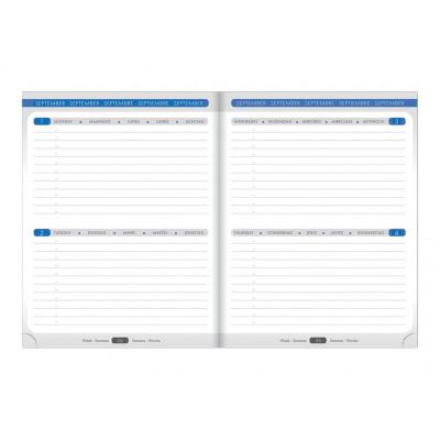 Agenda CLAIREFONTAINE When 17 - 17x22cm - 1 semaine sur 3 pages (COLORIS ALEATOIRES)