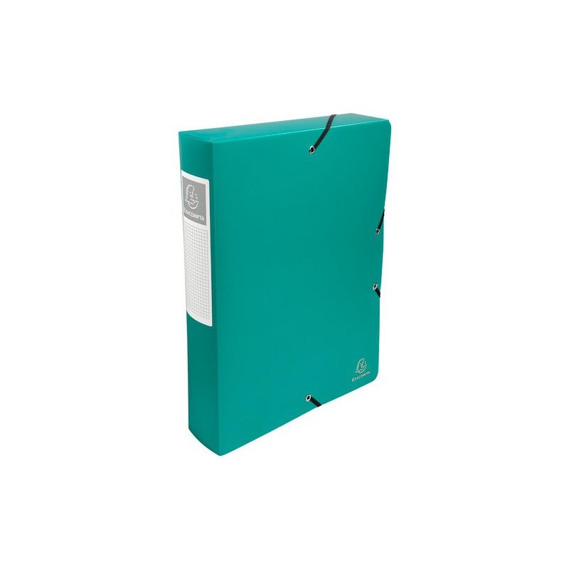 boîte classement exacompta exabox 24x32cm dos 60mm - vert