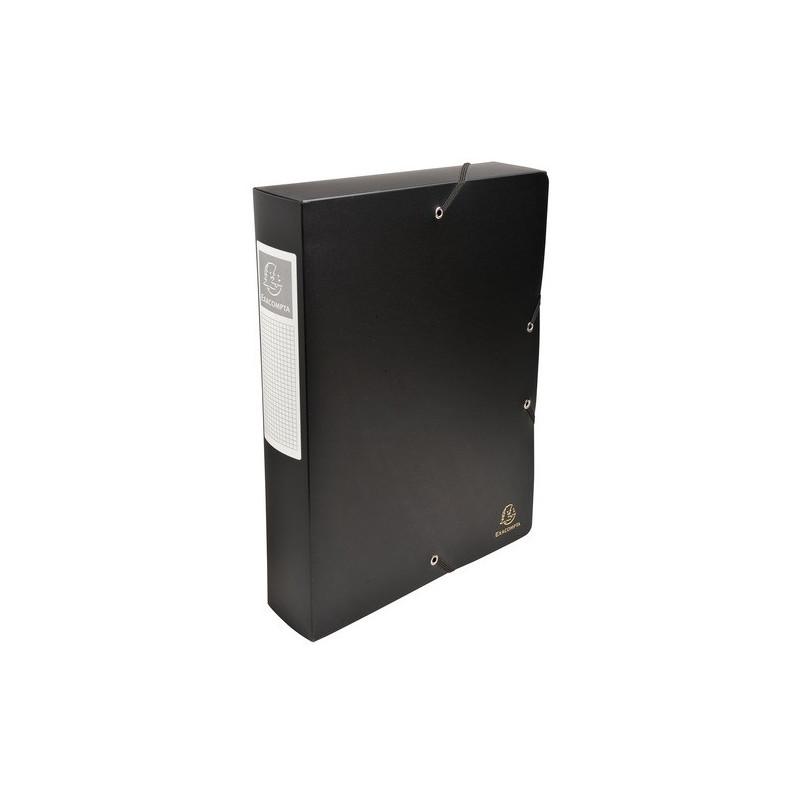 boîte classement exacompta exabox 24x32cm dos 60mm - noir