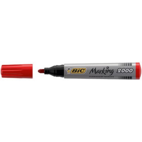 Marqueur permanent BIC Marking 2000 Ecolutions pointe ogive 1,7mm - ROUGE