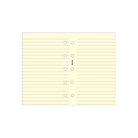 Recharge FILOFAX format MINI - Feuille de notes lignées Crème