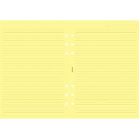 Recharge FILOFAX A5 21x14,8cm - 25 Feuilles de notes lignées - Jaune