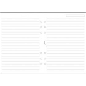 Recharge FILOFAX A5 21x14,8cm - 25 Feuilles de notes lignées - Blanc