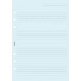 Recharge FILOFAX A5 21x14,8cm - 25 Feuilles de notes lignées - Bleu