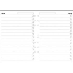 Recharge FILOFAX A5 - To Do - Blanc