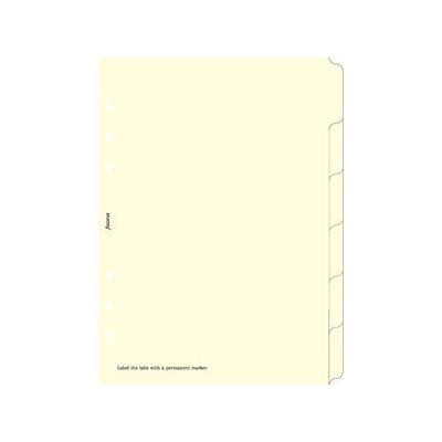 Recharge FILOFAX A5 - 6 Intercalaires - Crème