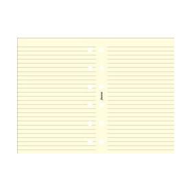 Recharge FILOFAX Pocket 12x8,1cm - 20 Feuilles de notes lignées - Crème