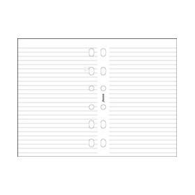 Recharge FILOFAX Pocket 12x8,1cm - 20 Feuilles de notes lignées - Blanc