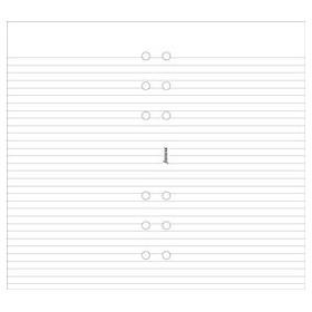 Recharge FILOFAX Personal 17,1x9,5cm - 100 Feuilles de notes lignées - Blanc