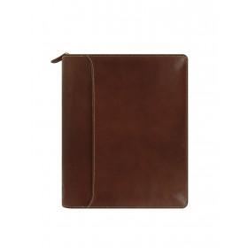 Organiseur FILOFAX Lockwood ZIP A5 25x20cm - cuir buffle pleine fleur Cognac - 1 semaine sur 2 pages