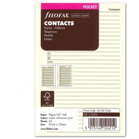 Recharge FILOFAX Pocket 12x8,1cm - Carnet adresses - Crème