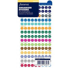 Sticker déco FILOFAX formes rondes et coloris assortis - Assortis