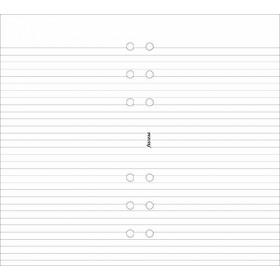 Recharge FILOFAX Personal 17,1x9,5cm - 20 Feuilles de notes lignées - Blanc