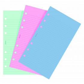 Recharge FILOFAX Personal 17,1x9,5cm - 20 Feuilles de notes lignées - Assortis