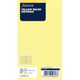 Recharge FILOFAX Personal 17,1x9,5cm - Bloc notes lignées - Jaune