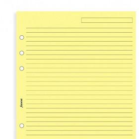 Recharge FILOFAX format MINI - Feuille de notes lignées Jaune