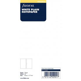 Recharge FILOFAX Personal 17,1x9,5cm - 20 Feuilles de notes non lignées - Blanc