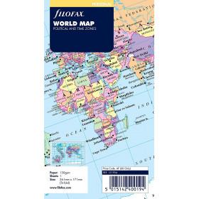 Carte du monde pour FILOFAX Personal 17,1x9,5cm