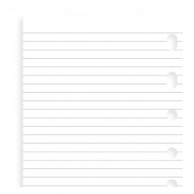Recharge FILOFAX Personal 17,1x9,5cm - Bloc notes lignées - Blanc