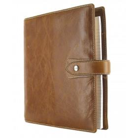 Organiseur FILOFAX A5 23,4x20,3cm MALDEN OCRE cuir de buffle - 1 semaine sur 2 pages VERTICAL