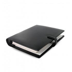 Organiseur FILOFAX A5 23,4x20,3cm FINSBURY NOIR cuir de vachette - 1 semaine sur 2 pages VERTICAL