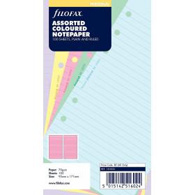 Recharge FILOFAX Personal 17,1x9,5cm - 100 Feuilles de notes lignées - Assortis