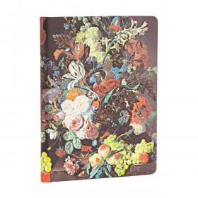 Carnet PAPERBLANKS Non ligné - Midi 120×170mm - Nature Morte Éclatée série Van Huysum