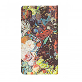Carnet PAPERBLANKS Ligné - Slim 90×180mm - Nature Morte Éclatée série Van Huysum