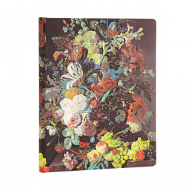 Carnet PAPERBLANKS Ligné - Ultra 180×230mm - Nature Morte Éclatée série Van Huysum