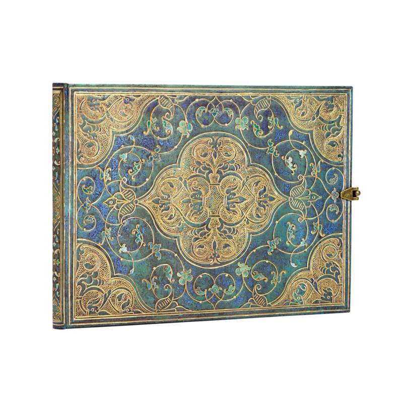 Carnet PAPERBLANKS Non ligné - Livred'Or 230×180mm - Chroniques Turquoises série Chroniques Turquoises