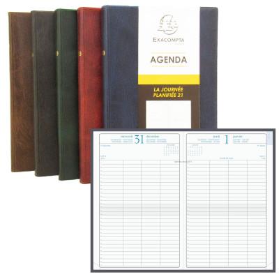 Agenda EXACOMPTA La Journée planifiée 21 plastique - 210x135mm - 1 jour par page (COLORIS ALEATOIRES)
