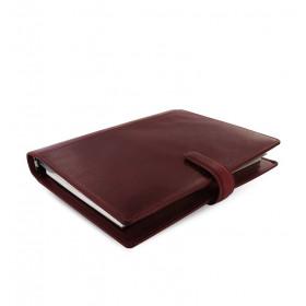 Organiseur FILOFAX A5 23,4x20,3cm LOCKWOOD GRENAT cuir de buffle - 1 semaine sur 2 pages VERTICAL