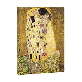 Carnet PAPERBLANKS Ligné - Midi 130×180mm - Éditions Spéciales 100ème Anniversaire Klimt – Le Baiser