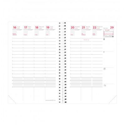 Recharge agenda QUOVADIS TIME&LIFE POCKET Septembre - 10x15cm - 1 semaine sur 2 pages