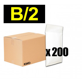 200x Enveloppes à bulles (B) - 140x225mm - BLANC