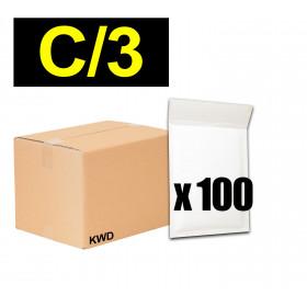 Lot 100x enveloppes à bulles ECO pochettes Blanches - format 170x225 mm - type C3 (C)