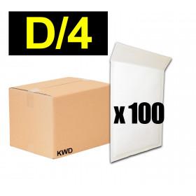 Lot 100x enveloppes à bulles ECO pochettes Blanches - format 200x275 mm - type D4 (D)