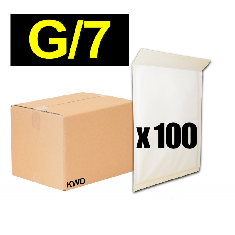 100x Enveloppes à bulles (G) - 260x350cm - BLANC