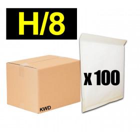 100x Enveloppes à bulles (H) - 290x370cm - BLANC