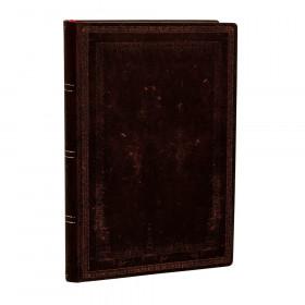 Carnet souple PAPERBLANKS Ligné - Mini 95×140mm - Flexis série Noir Marocain Uni - 240 pages
