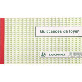 Manifold EXACOMPTA Quittances de loyer - 12,5x21cm 50 feuillets tripli autocopiants
