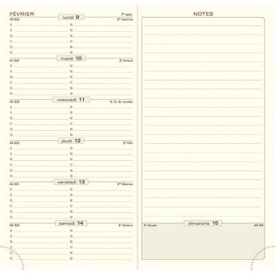 Agenda EXACOMPTA Espace 17 Barbara - 175x90mm - 1 semaine sur 1 page + NOTES (COLORIS ALEATOIRES)