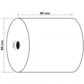 Lot 5x Bobines EXACOMPTA papier thermique 80x80x12mm 72m - 1 pli 55g/m2