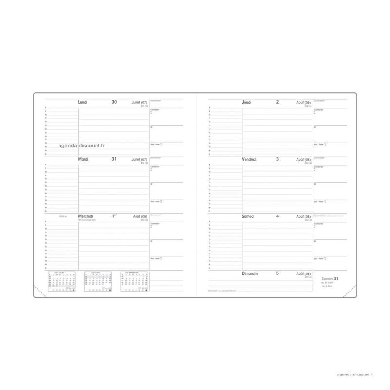 Recharge pour agenda QUOVADIS LE PRINCIPAL format 18x24cm