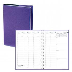 Agenda QUOVADIS Ministre S à spirales Septembre à Septembre 16 x 24 cm couverture Club Violet Iris