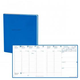 Agenda QUOVADIS EXECUTIF Septembre Toscana bleu nautic - 16x16cm - 1 semaine sur 2 pages