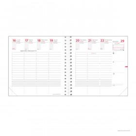 Recharge agenda QUOVADIS TIME&LIFE MEDIUM Septembre - 16x16cm - 1 semaine sur 2 pages