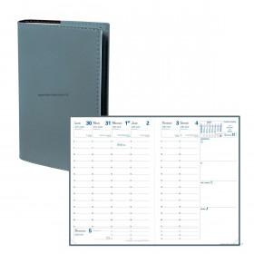 Agenda QUOVADIS UNIVERSITAIRE Soho Kaki - 10x15cm - 1 semaine sur 2 pages Verticale
