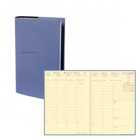 Agenda QUOVADIS UNIVERSITAIRE Prestige Soho Bleu ardoise - 10x15cm - 1 semaine sur 2 pages Verticale