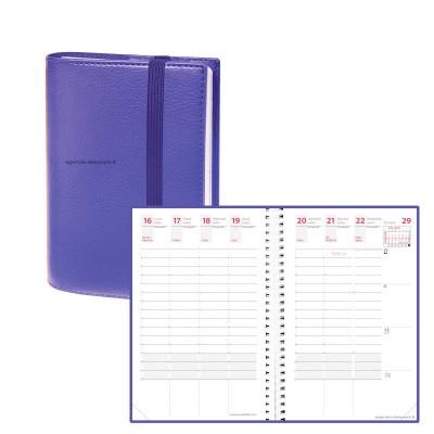 Agenda QUOVADIS TIME&LIFE POCKET violet Septembre - 10x15cm - 1 semaine sur 2 pages